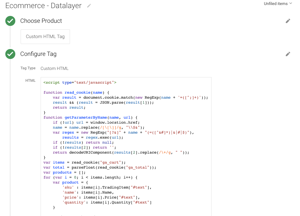 DataLayer In Custom JavaScript Variables