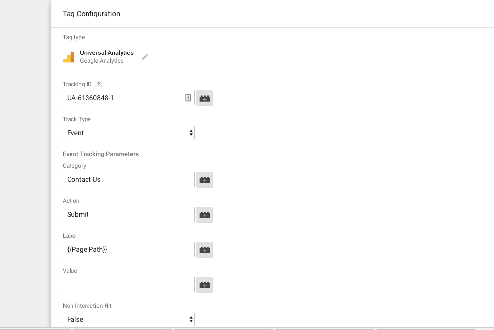Google Tag Manager Contact 7 Tags