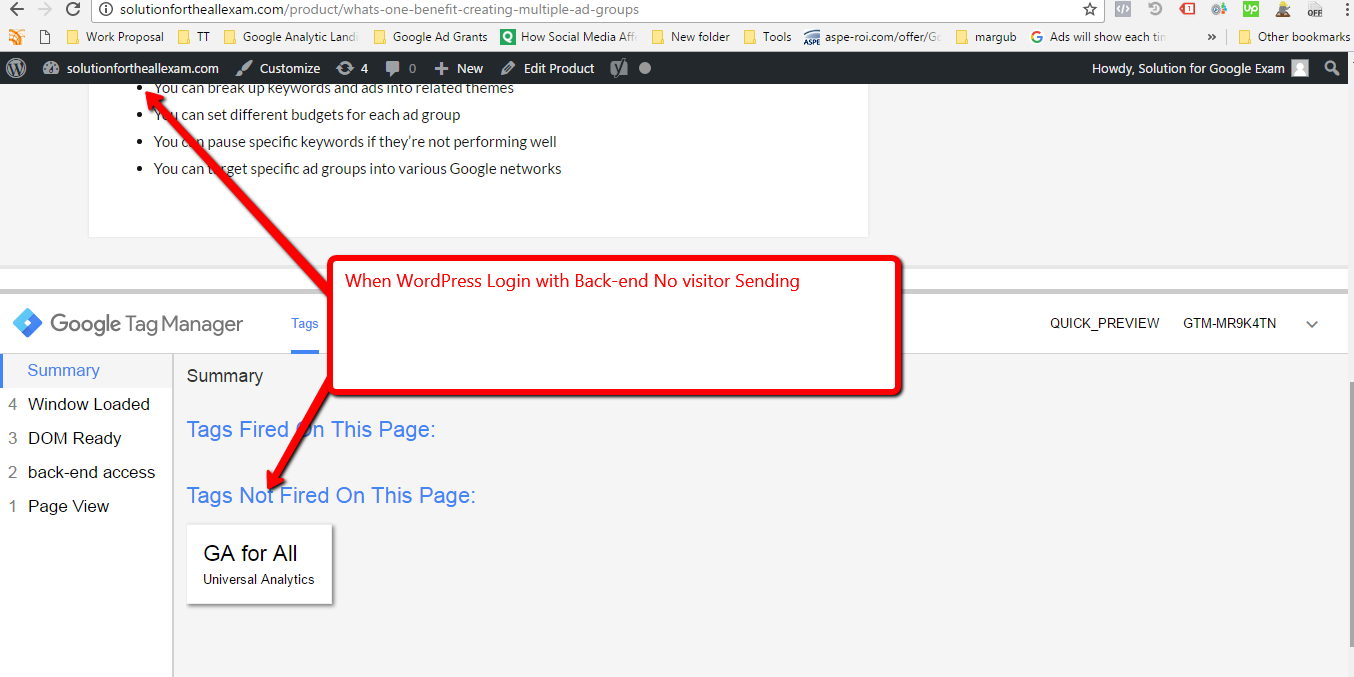 Exclude Admin Visitor from the Website