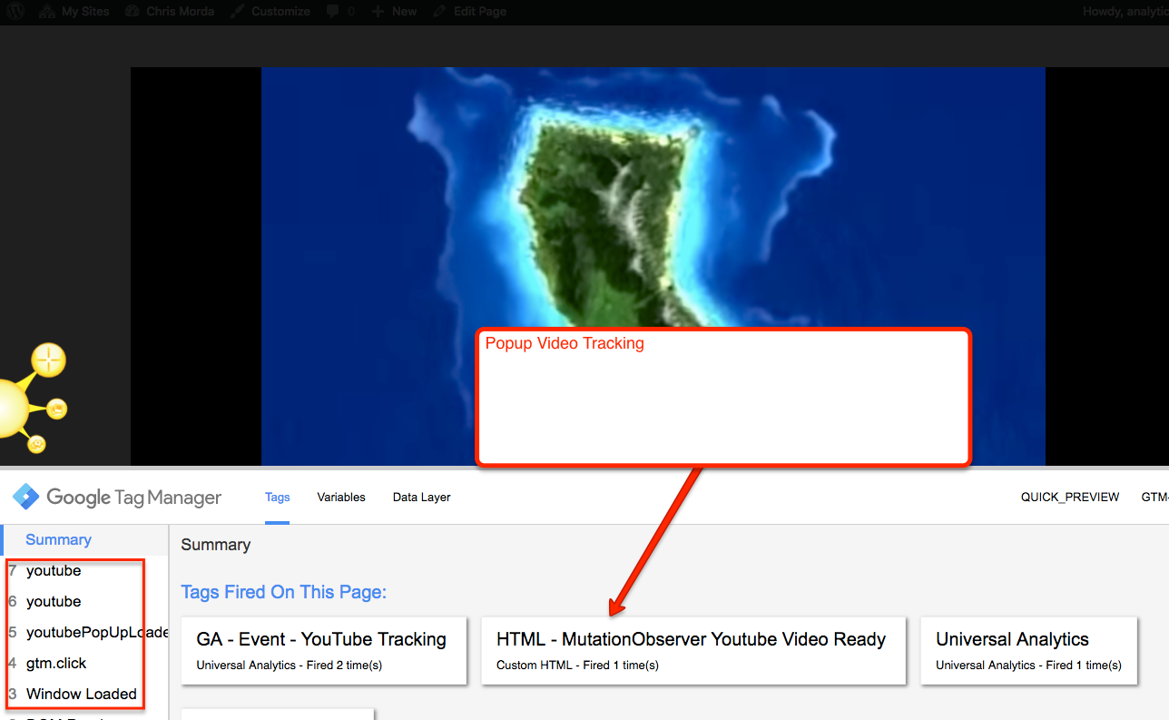 PopUp Video Tracking
