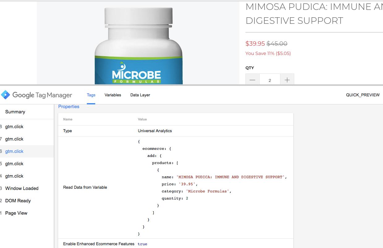 Google Analytics Enhanced Ecommerce in Shopify