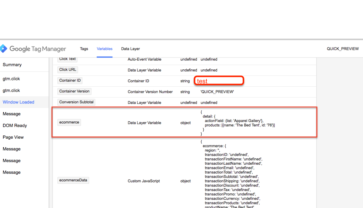 Implementation of the Emarsys Data Collection using Google Tag Manager