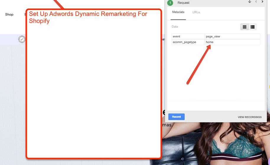 Setup google adwords dynamic remarketing for your shopify store