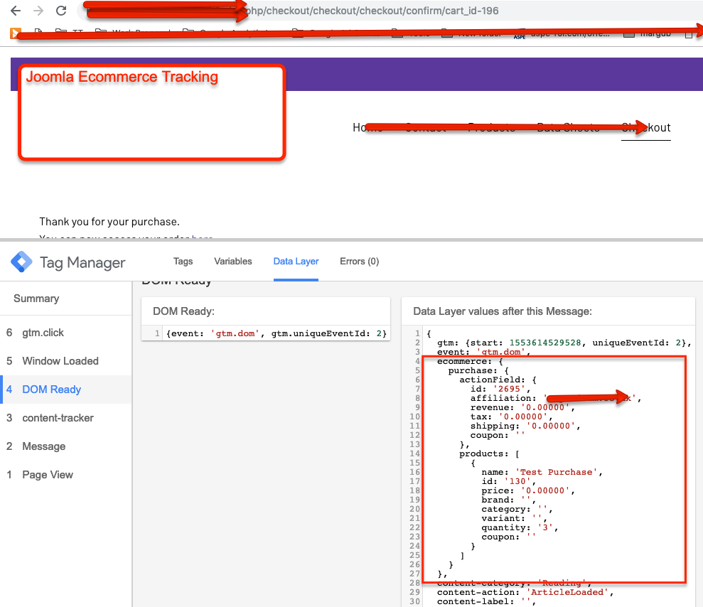 Google Analytics Ecommerce tracking in HikaShop using Google Tag Manager