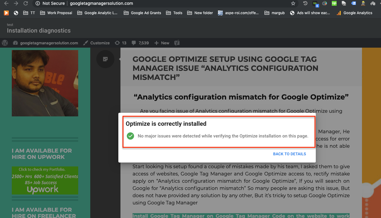Analytics configuration mismatch & Anti-flicker snippet timed out