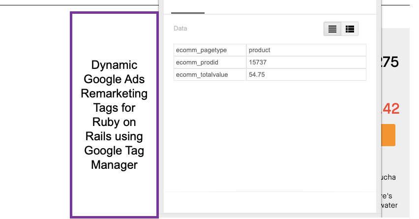 Ruby on Rails Google Dynamic Remarketing Tag