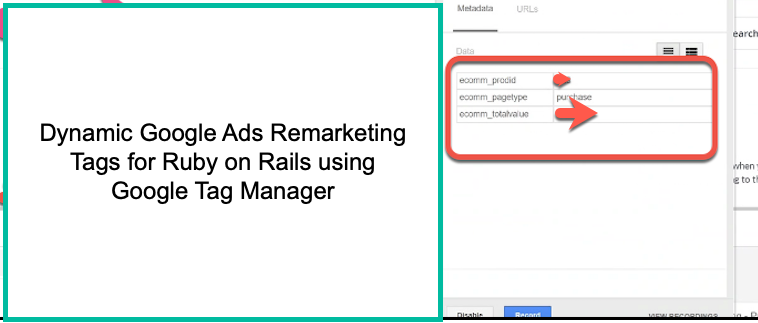 Google Dynamic Remarketing for Ruby on Rails