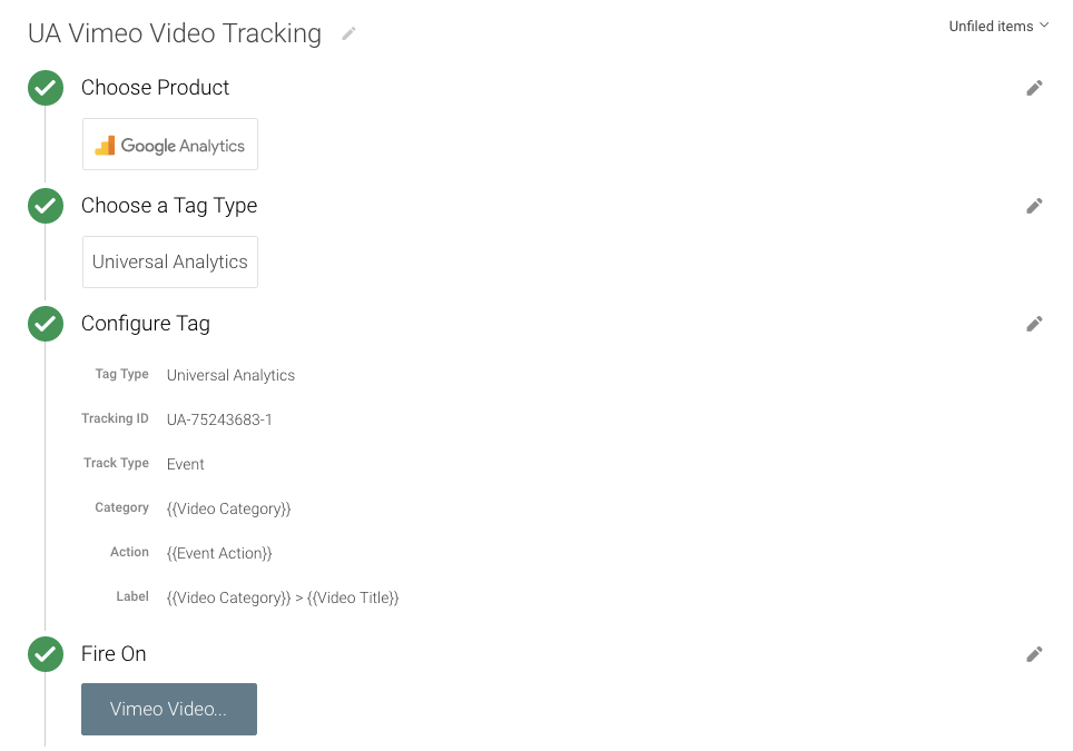 Vimeo Video Tracking
