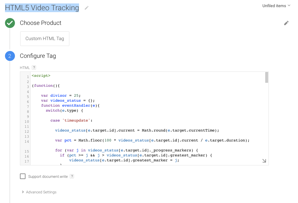 Track Click on html5 video
