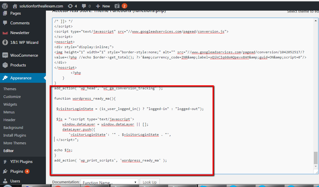 DataLayer Excluding in Google Tag Manager