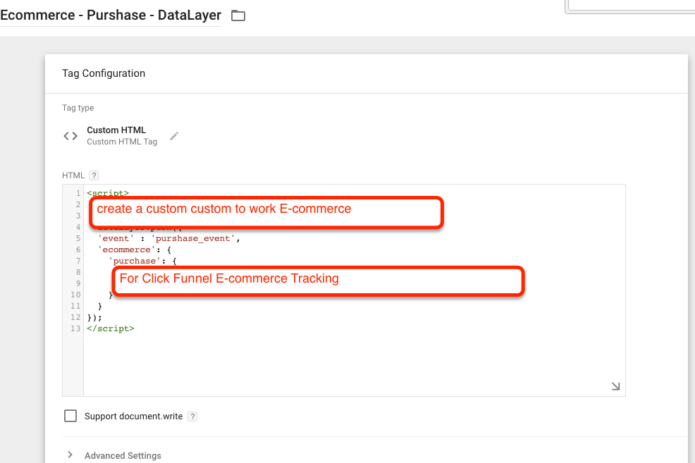 Click Funnel eCommerce - Purshase - DataLayer