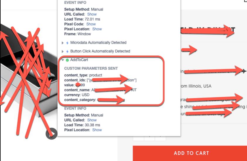 Facebook AddToCart Pixel for Woocommerce