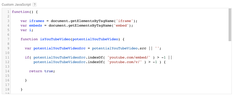 Tracking Pop up YouTube Video Tracking