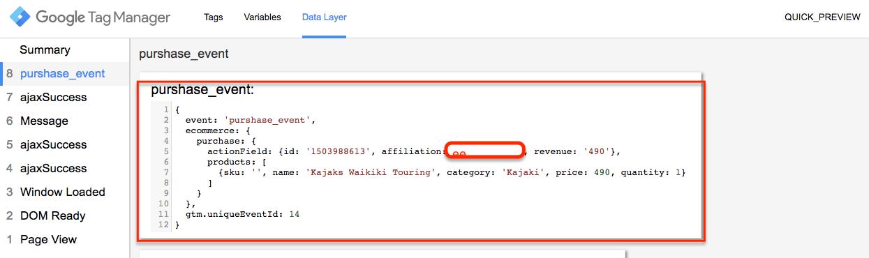 Google Analytics AJAX e-commerce tracking