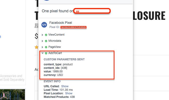 AddToCart facebook pixel bigcommerce