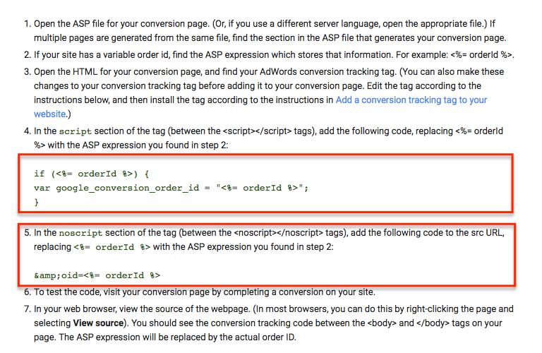BigCommerce Google Adwords Conversion Tracking