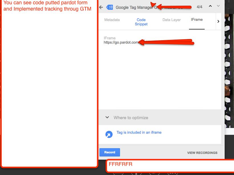 Pardot iFrame Form Tracking