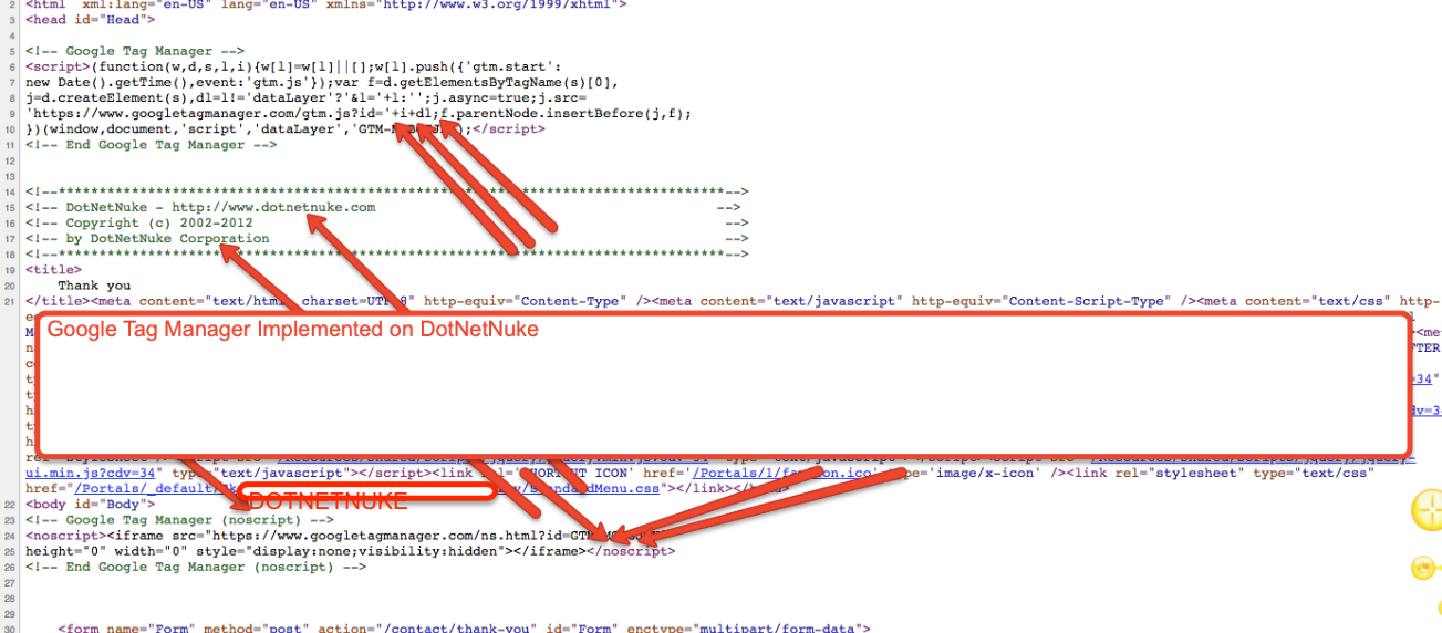 Configure Google Tag Manager in DotNetNuke (DNN)
