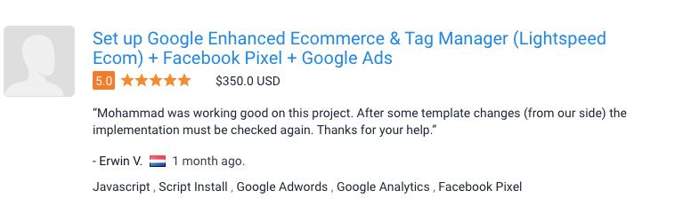 Enhanced Ecommerce Tracking for Lightspeed eCommerce