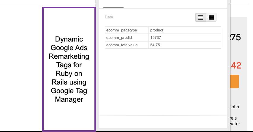 Ruby on Rails Google Dynamic Remarketing Tag