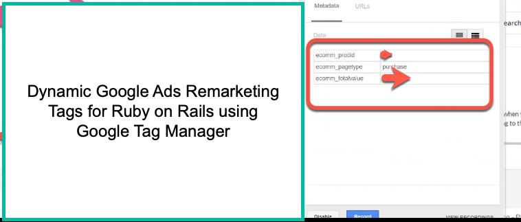 Google Dynamic Remarketing for Ruby on Rails