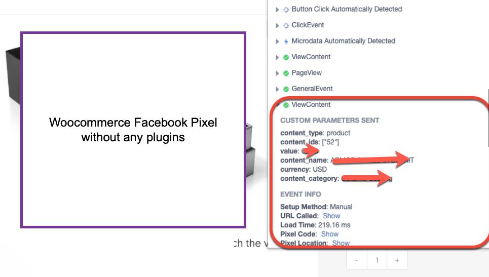 WooCommerce Facebook Pixel Events