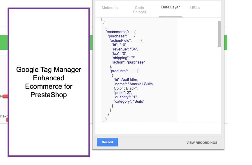 Google Analytics Enhanced Ecommerce for Prestashop
