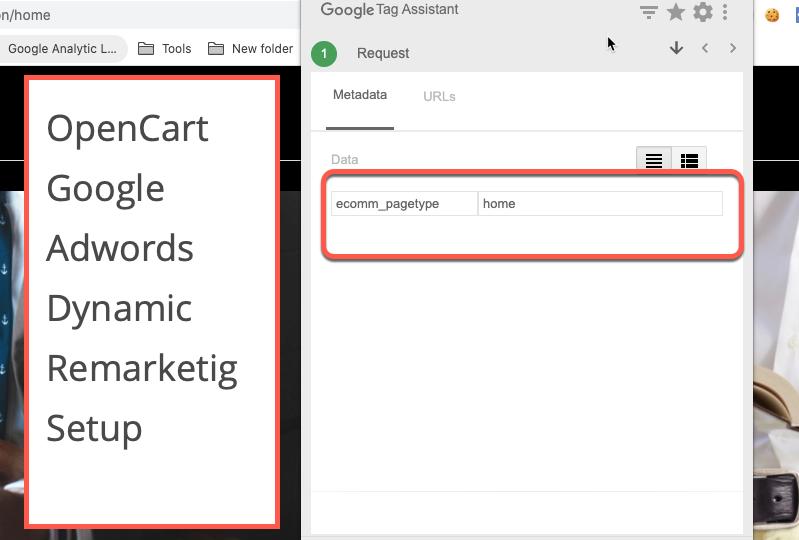 OpenCart Google Adwords Dynamic Remarketing