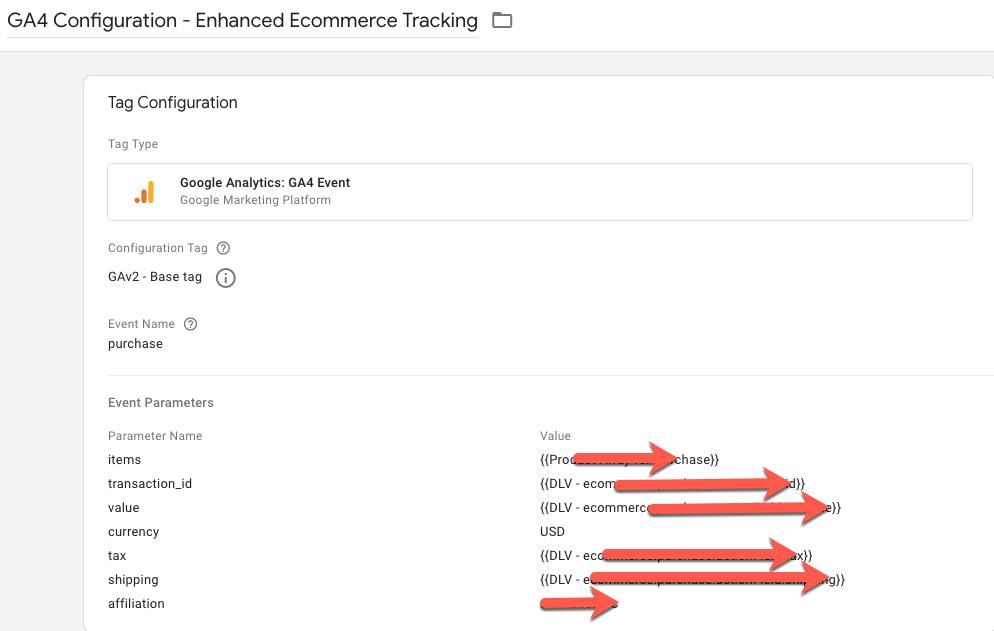 GA4 Ecommerce Tracking