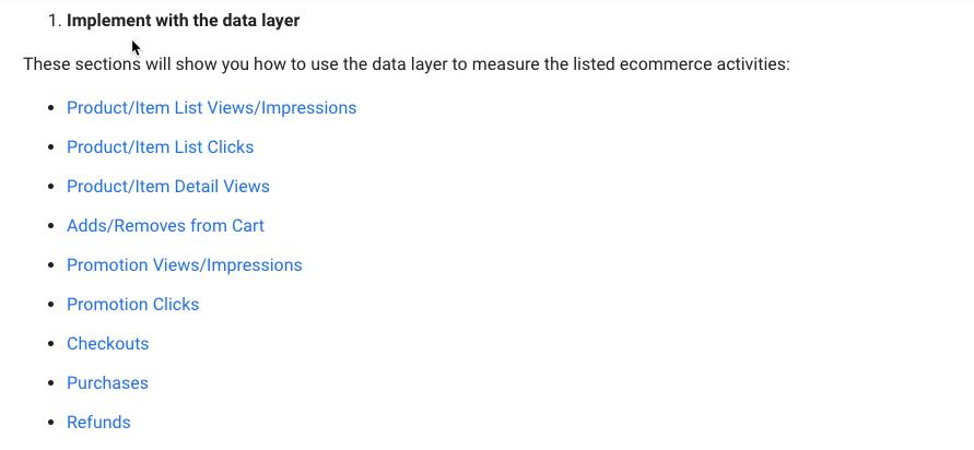 Google Analytics 4 (GA4) ecommerce