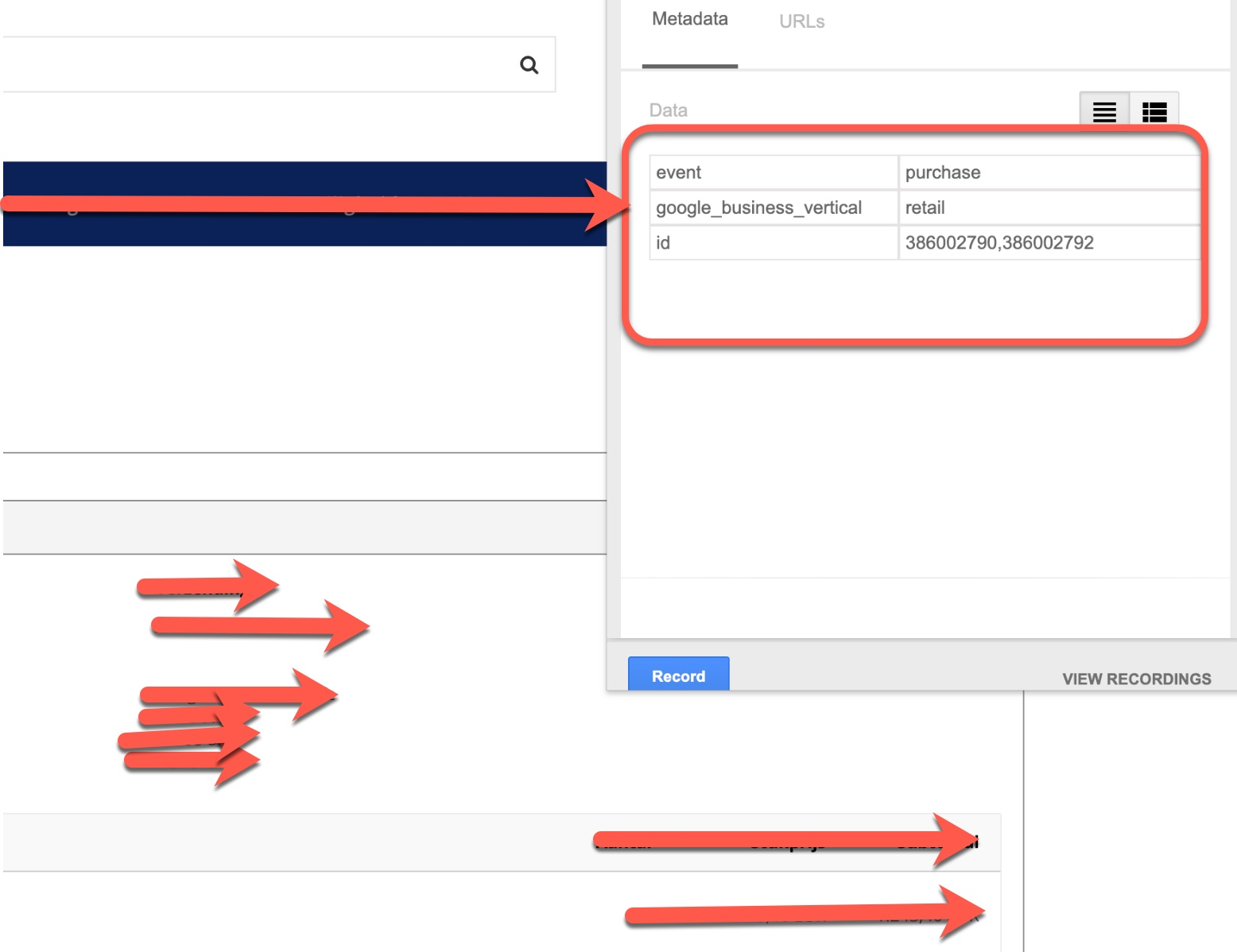 Dynamic Remarketing based on Events